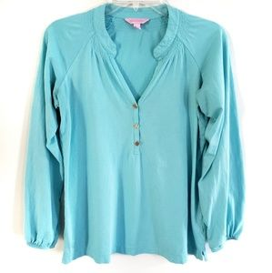 Lilly Pulitzer Long Sleeve Popover Top